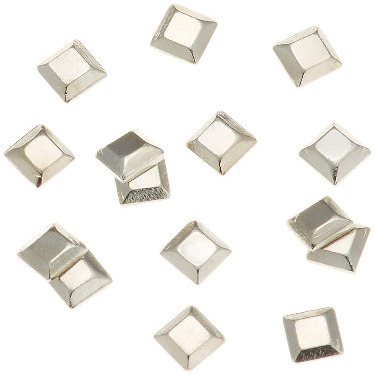要求するメイエラ結晶リトルプリティー ネイルアートパーツ スタッズスクエア シルバー 50個