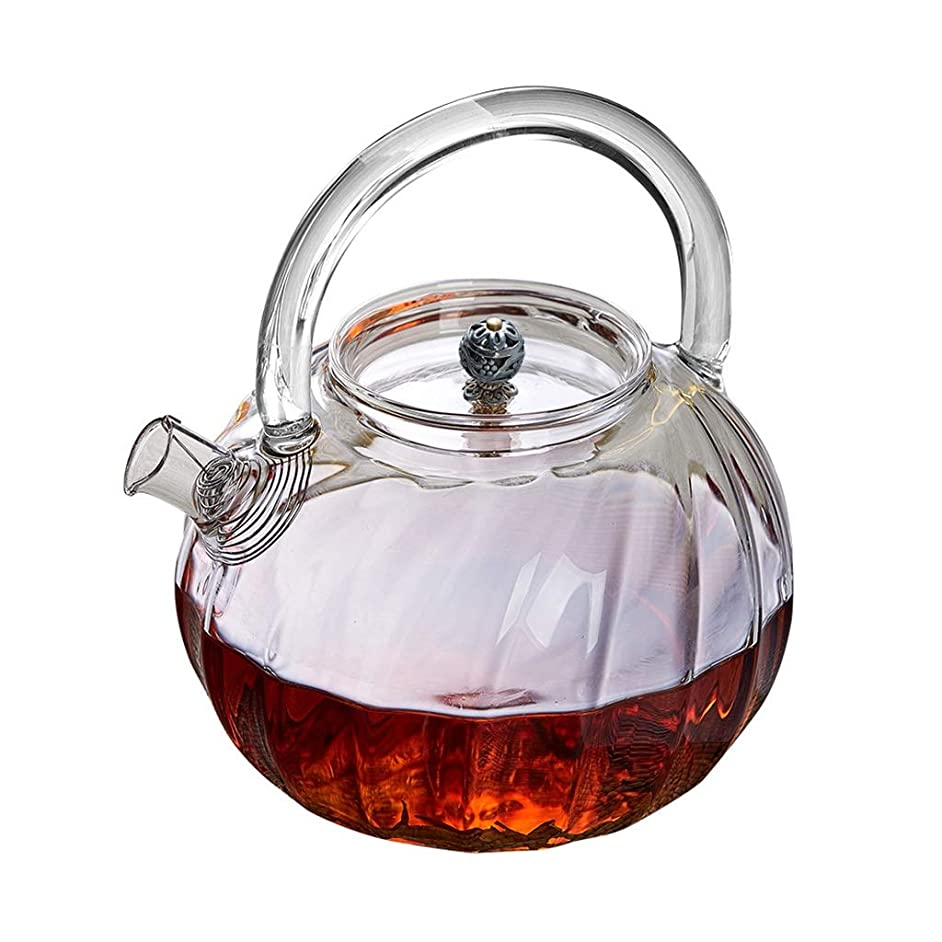 Teapots Coffee Servers Teapot Heat-resistant Explosion-proof Household Glass Teapot High Temperature Filterable Large Capacity Teapot Ice Coffee Maker (Color : Clear, Size : 850ml)