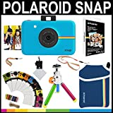 Polaroid Snap Instant Camera (Blue) + 2x3 Zink Paper (20 Pack) + Neoprene