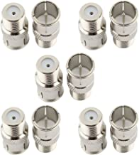 SaferCCTV (Pack of 10) F Type Push On Quick Coax Connectors Adapter for RVers Satellite Dish Cable TV Internet RV Trailer Coax Cable - 2 Years Warranty