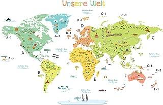 Maps International Kinder Karikaturkarte der Welt