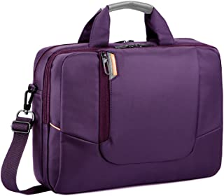 BRINCH 14 inch New Soft Nylon Waterproof Laptop Computer Case Cover Sleeve Shoulder Strap Bag with Side Pockets Handles and Detachable for Laptop/Notebook/Netbook/Chromebook,Colour Purple
