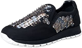 womens black sequin moccasins