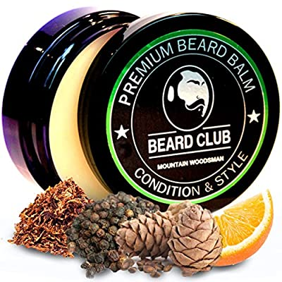 Premium Beard Balm | Mountain Woodsman | The Best Beard Conditioner & Softener to Shape & Style Your Beard, While Stopping Beard Itch & Flakes | Natural & Organic | Great for Hair Care & Growth from Red King Products