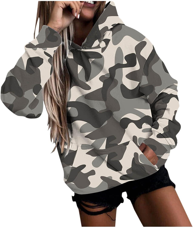 Bidobibo Camo Hoodies for New arrival Max 53% OFF Women Sleeve Hooded Long Sweat Hunting