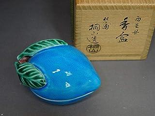 涼風庵琴浦窯 和田桐山 作 西王母香合 桃香合 共箱 茶道具 古商品
