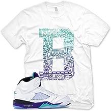 New_B_ BLESSED T Shirt for Jordan 5 V Fresh Prince Grape NRG
