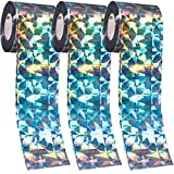ALDMIO Adhesive Bird Repellent Tape, 375 Ft x 2 in Deterrent Ribbon Reflective Durable Double-Sided Bird Tape for Pigeons Grackles Woodpeckers Geese Seagull Sparrow