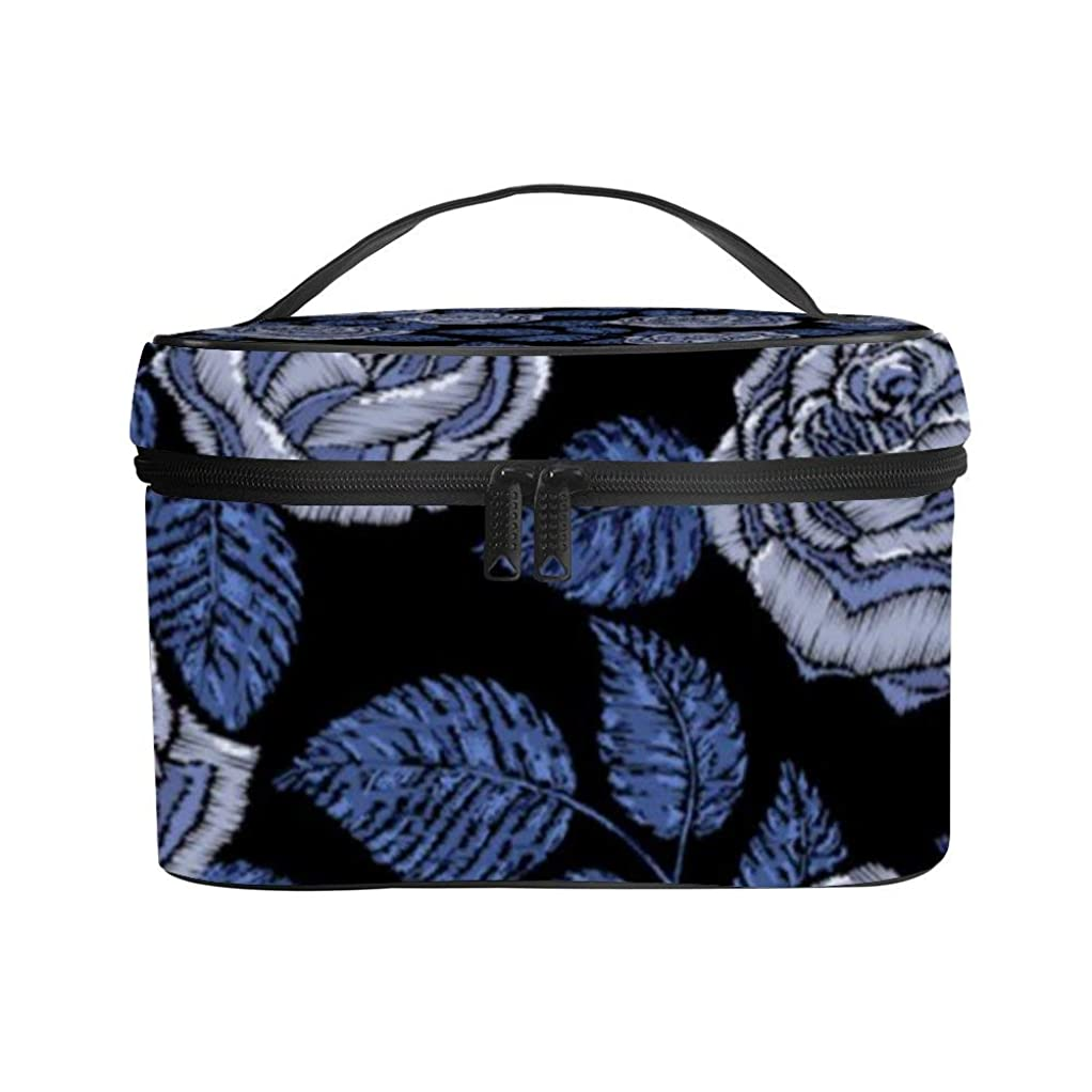 同種のスロベニア寄り添うメイクぼっくす PUレザー コスメボックス バニティポーチ 花柄 (2) 化粧ボックス メイクブラシバッグ トラベルバッグ 人気 かわいい 大容量 機能的