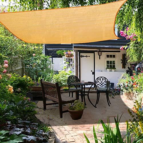Yosoo Health Gear - Toldo rectangular de 3 x 4 m, protector solar con protección solar, toldo con cuerda, agua y aire, para exteriores, jardín, patio, patio, fiesta, protector solar