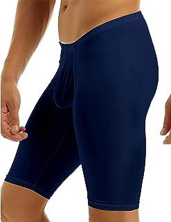KKmeter Men's Compression Base Layer Shorts Gym Workout Bodybuilding Yoga Swimming Capris Tights Pant