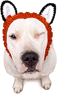 Zoo Snoods Fox Dog Costume - Neck and Ear Warmer Headband for Pets