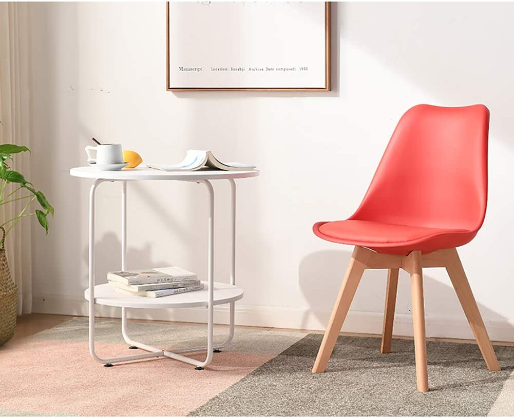 Stool haise de Salle à Manger Chaise PP Section portante Forte Confort de Confort Chaise de Bureau en Bois Massif Multi-Couleur en Option (43CM * 43CM * 46CM) Yellow