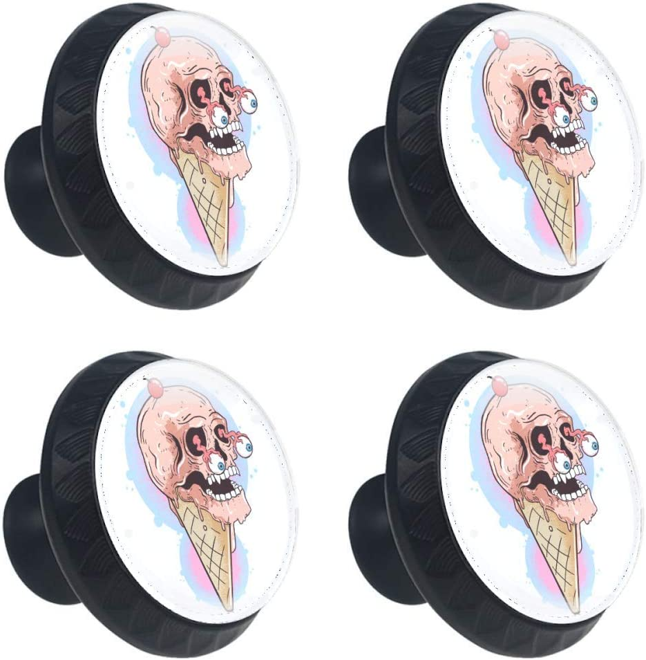 Shiiny Skull Ice Cream Chocolate Drawer Knob Cheap mail order specialty store Pull Cabinet Seasonal Wrap Introduction Handle