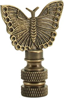 Antique Brass Bronze Butterfly Finial 2