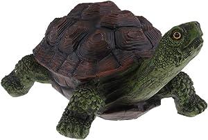 F Fityle Statua della Tartaruga del Giardino del Mestiere del Mestiere della Resina per I Regali Creativi della Decorazione dello Stagno del Prato Inglese