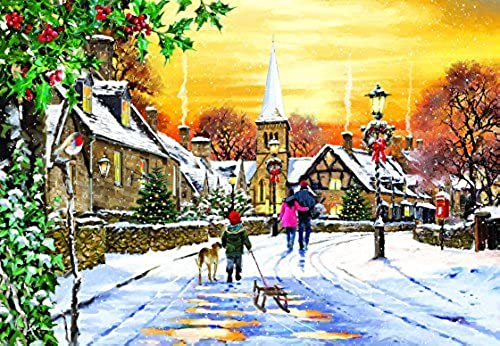 Village Streets - A 300 Piece Jigsaw Puzzle by SunsOut by SunsOut
