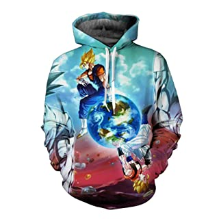 HOOSHIRTA Over Size Cartoon Sweatshirt Mens 3D Hoodies Dragon Ball Hoodie Super Saiya egeta Kids Goku
