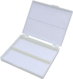 プレパラートボックス スライドガラス ケース プラスチック製 実験室 収納用品 100枚