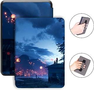 Jingdu Kindle Paperwhite 2018 モデル保護カバー ハンドストラップ付き,Kindle Paperwhite 第10世代用ケース レザー 軽量 超薄型 オートスリープ機能,B-Kongming Lantern
