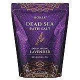 Bokek Organic Lavender Bath Salt, Dead Sea Salt Scented with Certified Organic Essential Oil, Large Bulk 5 Pound Zipper Bag