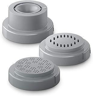Philips HR2482/00 HR2482/00-Cabezales para máquina de Hacer Pasta (Papel pardelle, Pelo de ángel), Gris