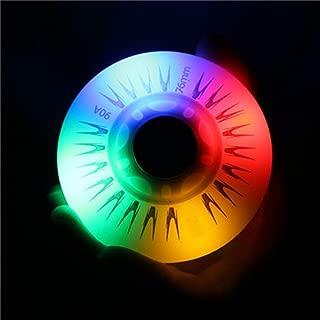 katrinacoco 7 Colors LED Light Outdoor Inline Skate Wheels 64MM/68MM72MM/76MM/80MM/90A Flash Roller-4packs/Lot
