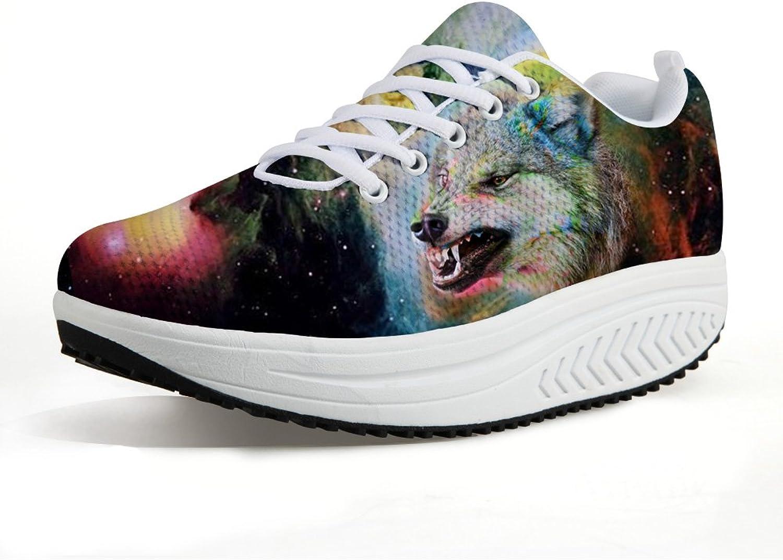 NAYINLAN Fitness Walking Sneaker Casual Women's Wedges Platform Travel shoes