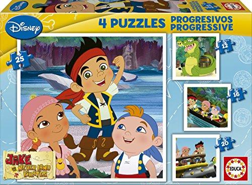Educa Borrás Jake Y Los Piratas De Nunca Jamás - Puzzles p