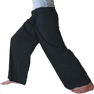Fisherpant Fisherman Pant ** BLACK ** SHORT Pants Yoga Wrap Sport Thailand Thai Long by Chaolay