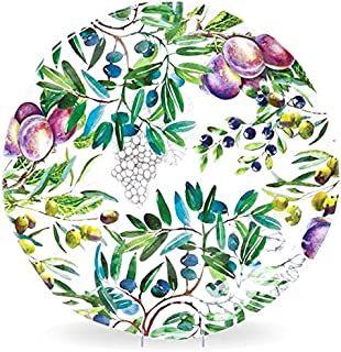 Michel Design Works (SWPRL277) Melamine Round Serving Platter, Large, Tuscan Grove