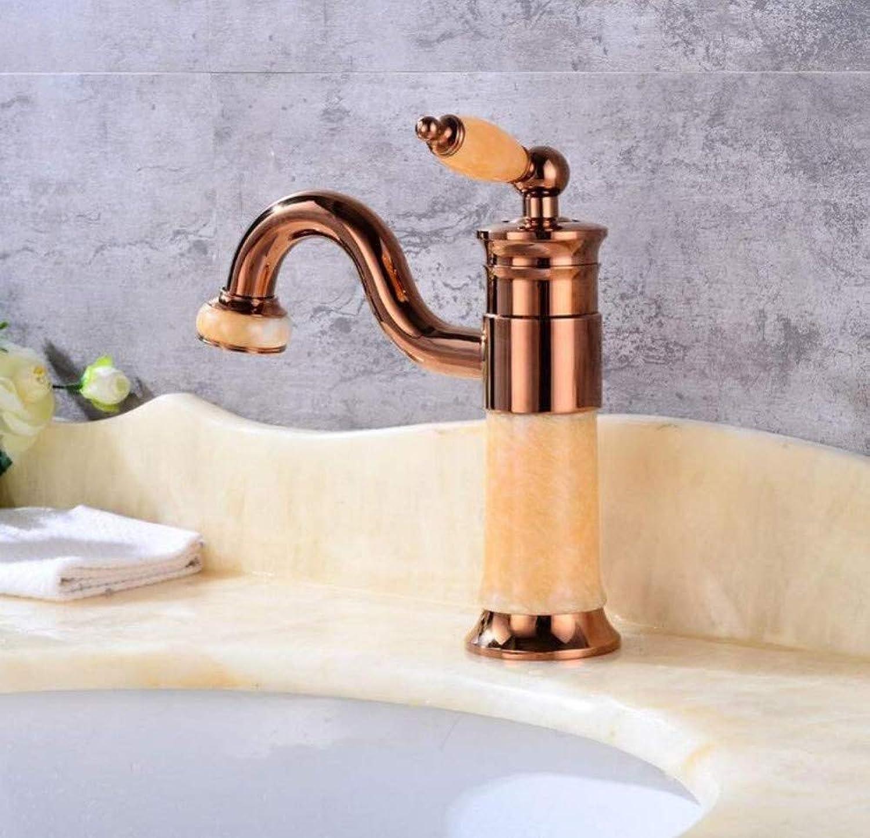 Kitchen Bathroom Mixer Faucet Faucet pink gold Jade Faucet Basin Hot and Cold Faucet Bathroom Sink Faucet