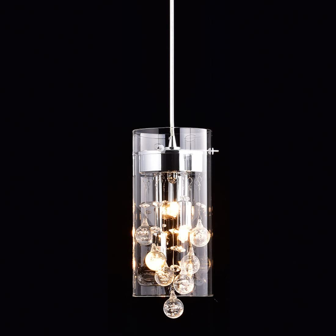 Truelite price Modern G9 Glass Pendant Crystal Hanging Max 89% OFF Light Fixture