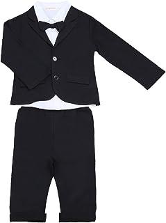 791cd2363b8b6 freebily 3pcs Gentleman Tenues Bébé Enfant Garçon Smoking Costumes Mariage  Baptême Veste + Pantalon + Chemise