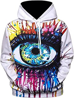 3D Graphic Printed Hoodie Sweatshirt Galaxy Fleece Starry Sweatshirts Casual Pullover Hoodie