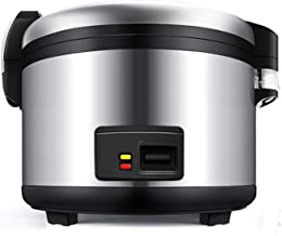 Rice Cooker Warmhoudfunctie, Premium-Quality Inner Pot, Steam Vent Deksel & Simple eentoetsbediening Stainless Steel13L / ...