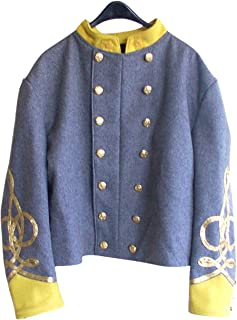 10Code Civil war Confederate Cavalry Major/colonel's Double Breasted Shell Jacket