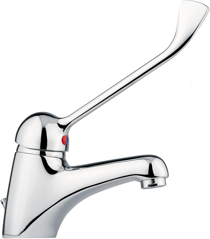 Hygiene-Armatur Waschtischarmatur   OP-Armatur Praxisarmatur - mit langem Armhebel