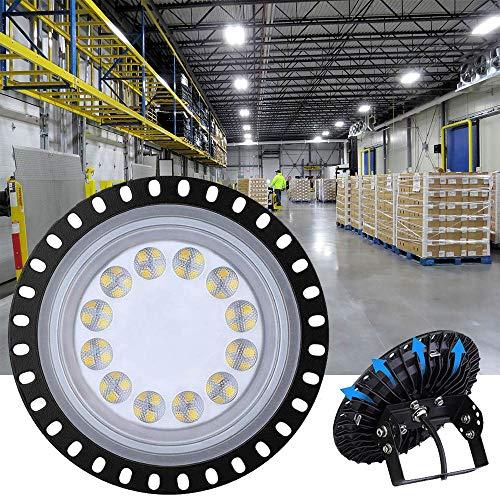 50W LED UFO Industrielampe, SMD 2835 LED High Bay Licht, 6000LM Deckenleuchte, Hallenbeleuchtung, Werkstattbeleuchtung, LED Hallenstrahler (50W)