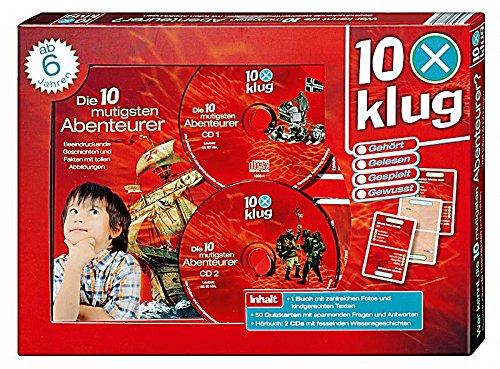 10 x klug - Die 10 Mutigsten Abenteuer - 1Buch 50 Quizkarten und 2 CD´s