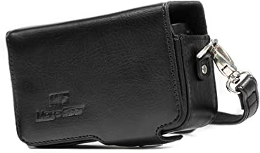 MegaGear Leather Camera Case with Strap Compatible with Sony Cyber-Shot DSC-RX100 VII, DSC-RX100 VI, DSC-RX100 V, DSC-RX100 IV with 24-70mm Lens, DSC-RX100 III, DSC-RX100 II