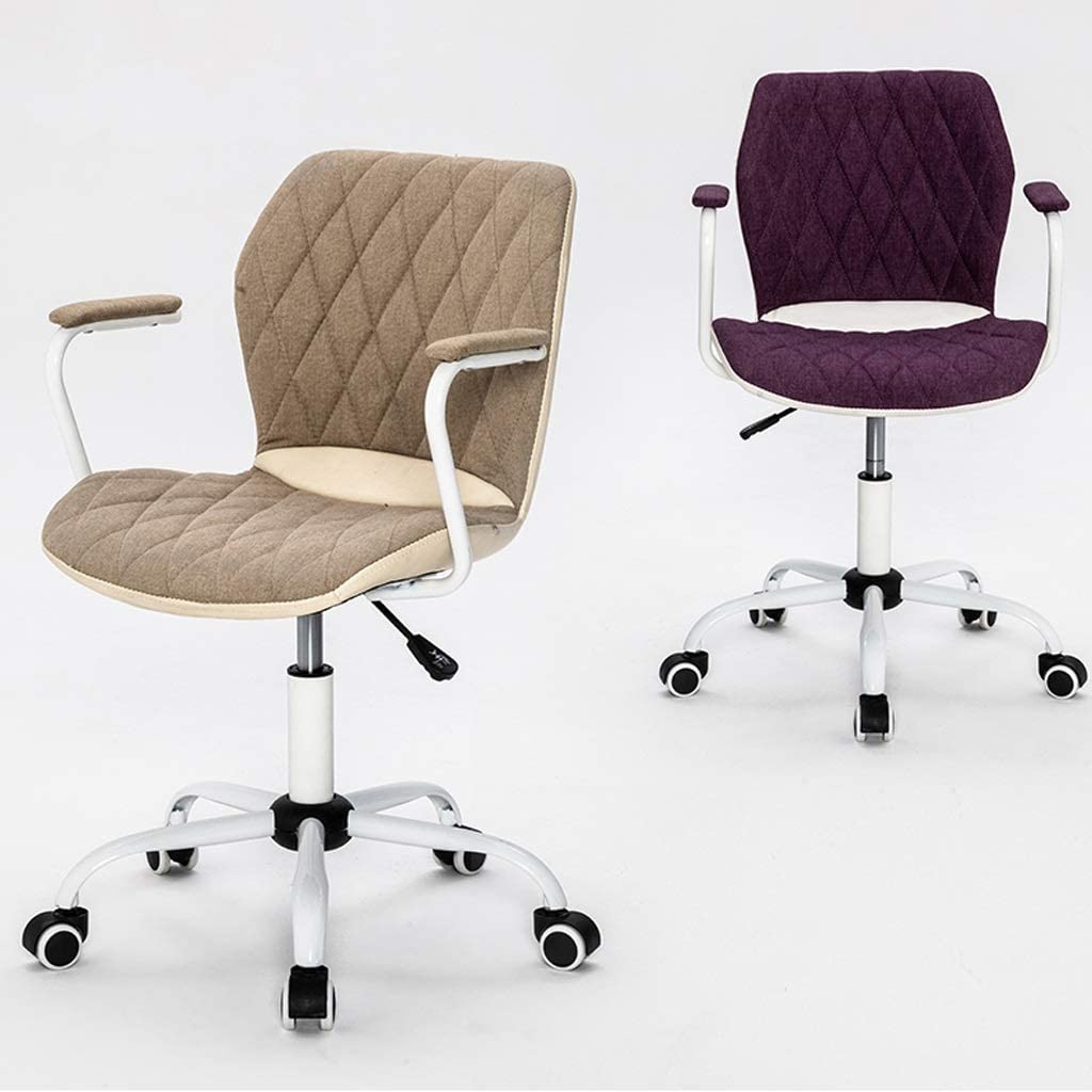 LUGEUK Chaise de Bureau, président Ordinateur Chaise pivotante, Chaise d'étude, Tabouret étude, Bureau Simple Loisirs Accueil Dossier Chaise (Color : Purple) Purple