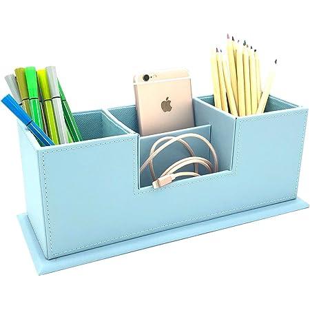 Soporte para Bol/ígrafos para Oficinas 4Pcs Compartimentos Soporte para Bol/ígrafo Portal/ápices Multifuncional Lapiceros para Escritorio BlueSunny Organizador de Escritorio para L/ápices