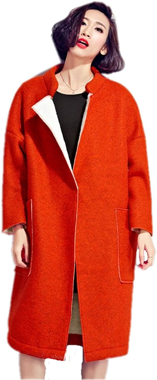 Girls Long Section Of Loose Coat Thick Ladies Fashion Cardigan Loose Coat