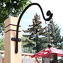 Incredibly Sturdy Hanging Plant Bracket, for Heavy Duty DOODADS, Elegant Hook for Wind Chimes, Flower Baskets, Decorative Plants, Wind Spinners, Bird Feeders, Indoor & Outdoor Décor