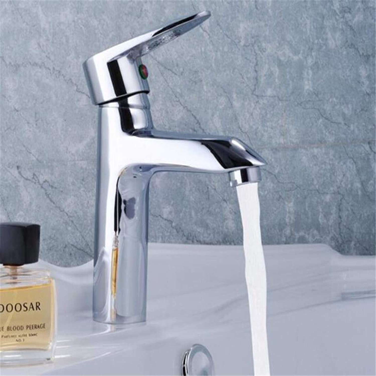 Faucet Washbasin Mixer Exclusive Personalized Art Polished Chrome Solid Brass Hot and Cold Bathroom Basin Sink Faucet