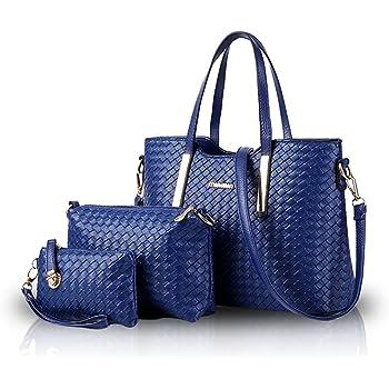NICOLE/&DORIS Bolso para Mujer Bolsos de Mano Bolsos m/últiples Colores Bolsos de Hombro para Damas Bolsos Bandolera para Mujer Azul Marino