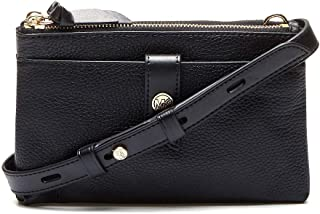 Michael Kors Woman's Michael Kors Black Shoulder Bag In Textured Leather Black