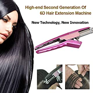 JYZ Professional Hair Extensions Tool No-Trace Quick Kit Easy Operation 6D Hair Extension Machine Salon Equipment for Faster Natural Real Hair Extension (1 X Main Machine 1 X Pliers)