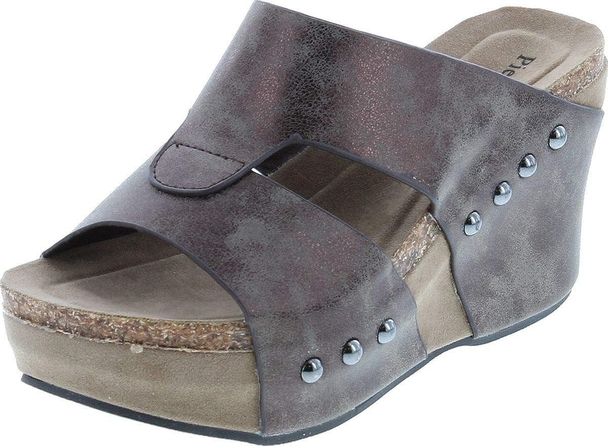 Pierre Dumas [Alternative dealer] Women's Hester-7 Studded Wedge Platform Sandals Max 47% OFF